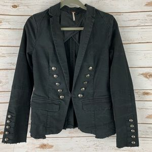 Free People XSmall Jacket Black Military pickets
